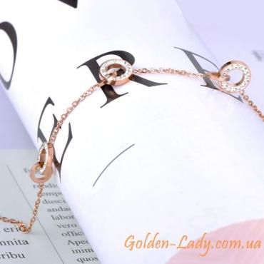 женский браслет со звеньями