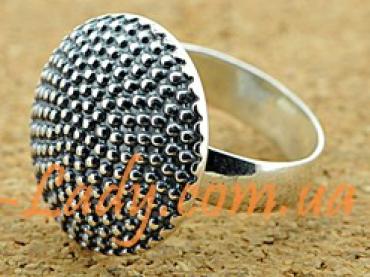 большое кольцо из стерлингового серебра 925 Пион