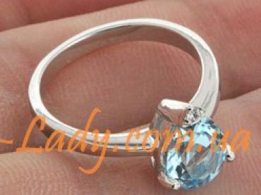 женское кольцо из серебра 925