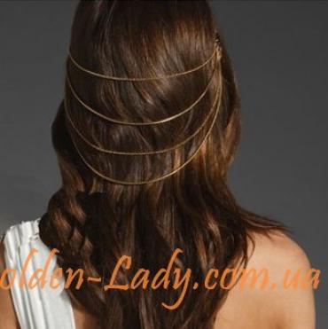 заколка для волос позолоченная