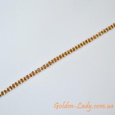 шикарная цепь женская, золото 750
