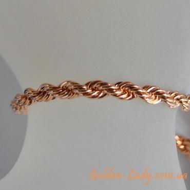 Женский браслет розовое золото в Украине