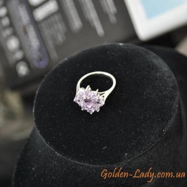 кольцо серебро 925, натуральный аметист