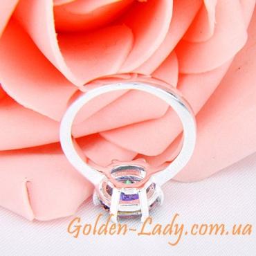 стильное женское колечко из серебра стерлиногового