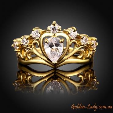 """Кольцо-корона """"Victoria"""" с фианитами"""
