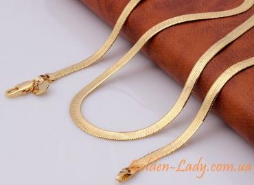 плоская цепочка золото