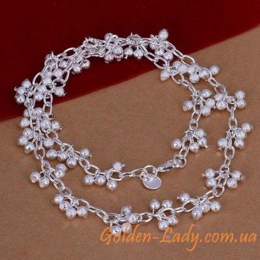 кольцо из цепочек серебро 925