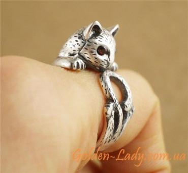 Кольцо Кошка в античном стиле, 2 варианта