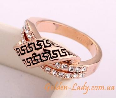кольцо версаче с камнями