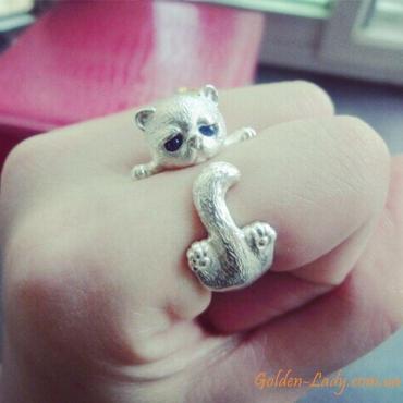 """Кольцо в виде кота """"Kitten"""""""