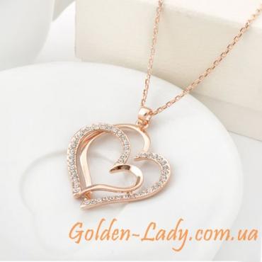 "Золотой кулон ""Сердце"""