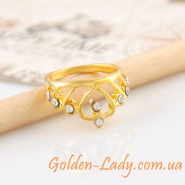 Кольцо в форме короны с кристаллами Swarovski