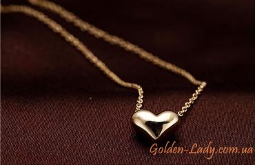 золотая цепочка с сердечком