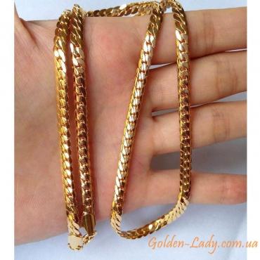 Золотая цепочка Монреаль, Gold Filled, 18K с пробой