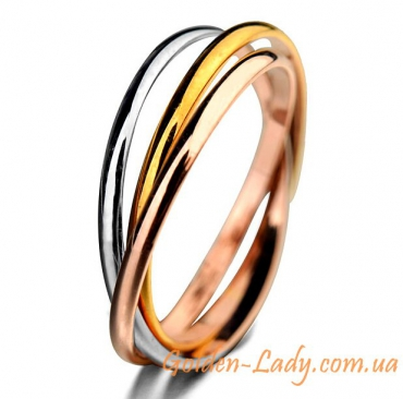 "Тройное кольцо ""Cartier Mini"""