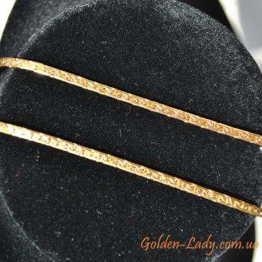 цепочка 80 см, покрытая желтым золотом
