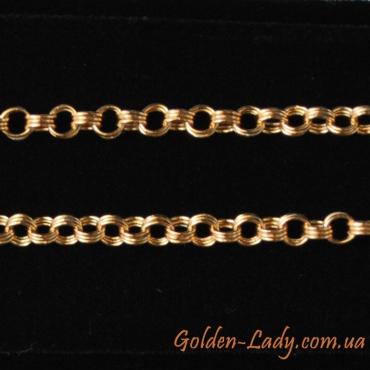 золотая цепочка с двойным плетением
