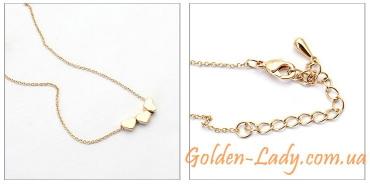 """Подвеска-колье """"Golden Hearts"""""""