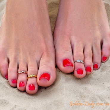 Кольцо на палец ноги Infinity Gold