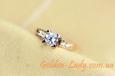 кольцо для помолвки с камнями