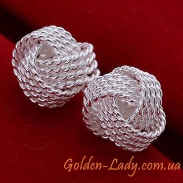 Серьги в стиле кольчуги Tiffany