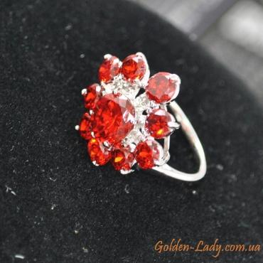 """Кольцо с красными камнями """"Flavour"""""""