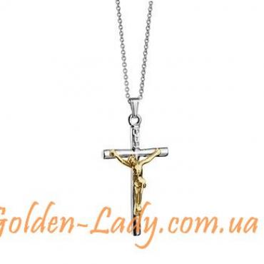 """Кулон крестик с Иисусом Христом """"Jesus"""""""