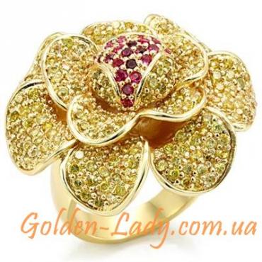"""Кольцо """"Kassandra"""" в виде большого цветка"""