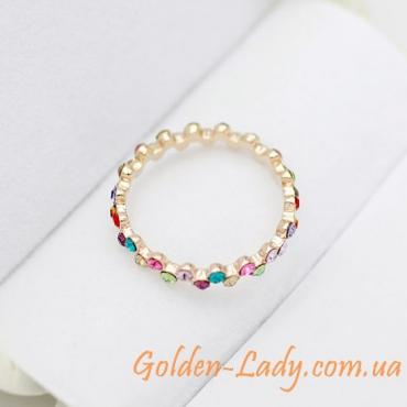 """Необычное кольцо с кристаллами Swarovski """"Lina Gennari"""""""
