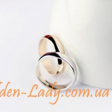 кольцо обручальное, желтое золото 750