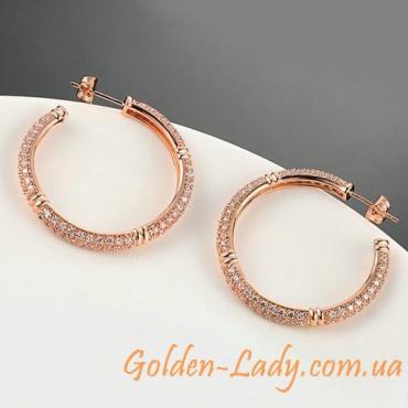 сережки кольца гвоздики