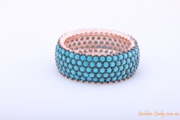 """Серебряное кольцо с бирюзой """"Аджена"""" (широкое)"""