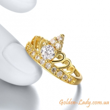 """Кольцо в виде короны """"Ria de Simone"""", 2 цвета"""