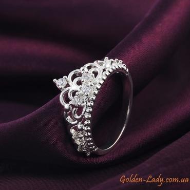 кольцо корона серебряное 925