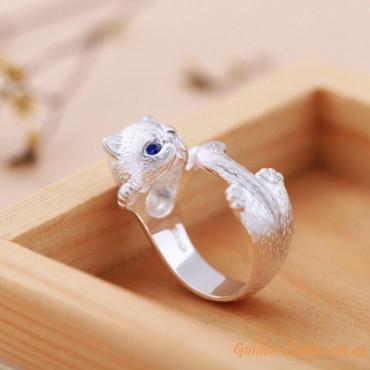 кольцо в форме котика