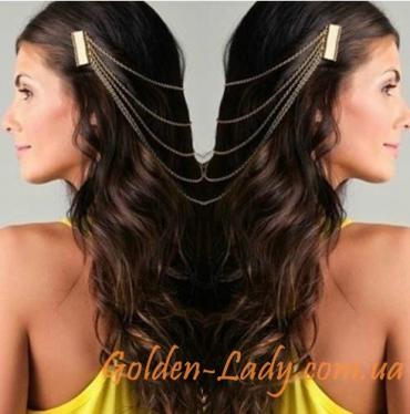 Красивая позолоченная заколка для волос