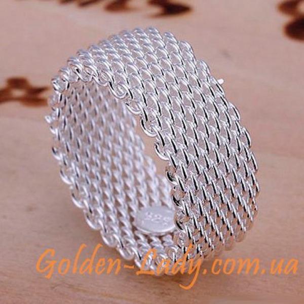 Стильное серебряное кольцо Tiffany в Украине