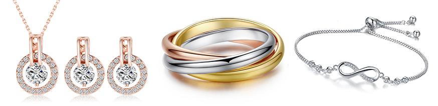 набор, кольца и браслет из стали