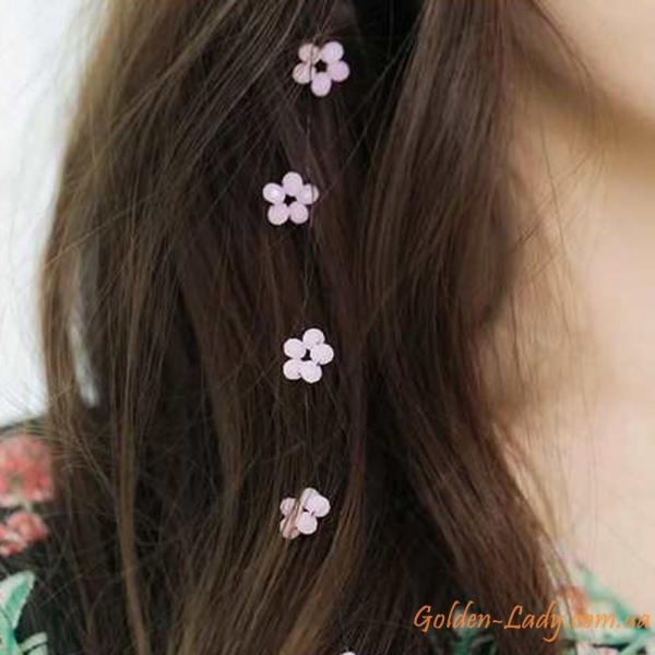 украшение на волосы с цветами